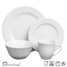 Ensemble de dîner en céramique en glaçure blanche