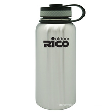 Stainless Steel Vacuum Sports Bottle with Loop 946ml