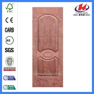 JHK-007 Natural Buingga Door Skin Round Top Panel