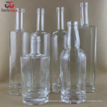 Extra Flint botellas de vidrio para el licor de primera calidad (varios Label Decoration Doable)