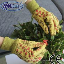 NMSAFETY alta qualidade quaility algodão lona jardim luvas para o corte
