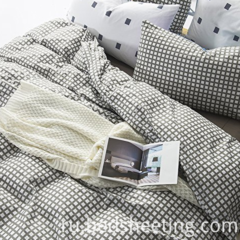 Cvc 2575 Grey Plaid Duvet Cover