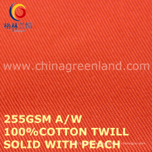 Cotton Solid with Peach Twill Fabric for Clothes Garments Industry (GLLML452)
