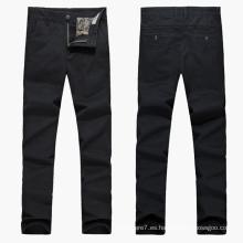 Pantalones de taladro de sarga de algodón elástico de los hombres personalizados