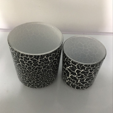 170ML / 400ML Crackled Effect Glass Candle Jars