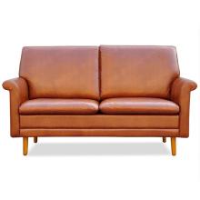 Estilo europeu Home Design Furniture Sofá de madeira de couro