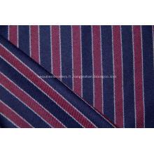 Cachemire peigné et tissu à rayures verticales en laine mélangée.