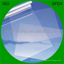 Filme de PVC rígido transparente para embalagem