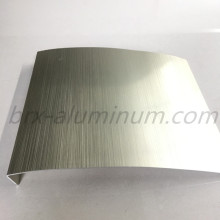 Anodized wiredrawing bended aluminum sheet