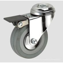 Echador gris de la industria del caucho 3inch con el freno entero