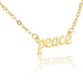 Regalo de mujer Lucky Letter Word Peace Gargantilla Necklace