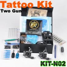 Novo popular máquina de tatuagem profissional Kit com 2 armas