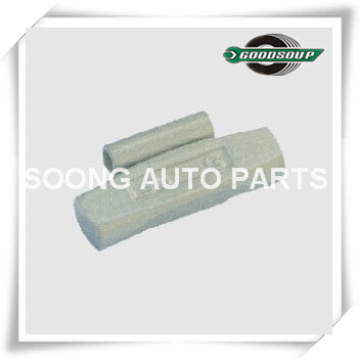 Grampo do aço / Fe em pesos do balanço da roda, revestimento do poliéster da cola Epoxy para a roda de aço