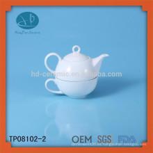 Té de la porcelana para un sistema, sistema de té de la promoción, sistema de té de cerámica respetuoso del medio ambiente para la familia, té para uno