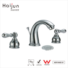 Haijun 2017 Modern Contemporary Dual Handle Polished 3 Holes Bathtub Faucets