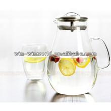 Potenciômetro de aço inoxidável do chá da garrafa de água do filtro de Homeware da grande capacidade