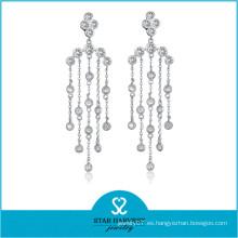 Joyería de plata elegante al por mayor elegante de la piedra preciosa del rodio (E-0258)
