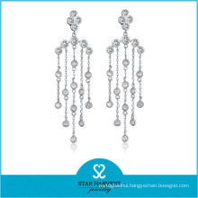 Elegant Stylish Wholesale Silver Rhodium Gemstone Jewelry (E-0258)