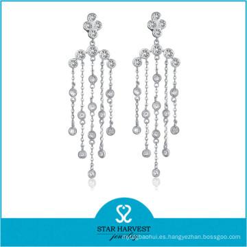 El más nuevo pendiente de gota de plata esterlina 2016 (E-0258)