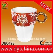 11OZ customized logo strengthen ceramic diamond mug