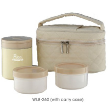 Stainless Steel Lunch Box with The Carry Case