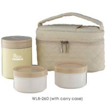 Edelstahl-Lunch-Box mit der Tragetasche