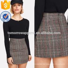 Gales Check Zip Back Skirt Manufacture Venta al por mayor Moda Mujer Ropa (TA3065S)
