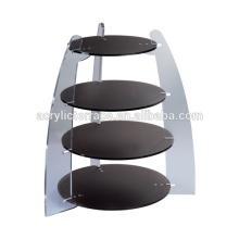 2014 New Christmas 4 tier food display rack acrylic food stand cp140604003