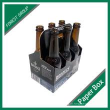 Cartão impresso costume da fábrica 6 transportadores da cerveja da garrafa do bloco por atacado