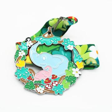 Дизайн ребенка милое животное мультфильм слон медаль