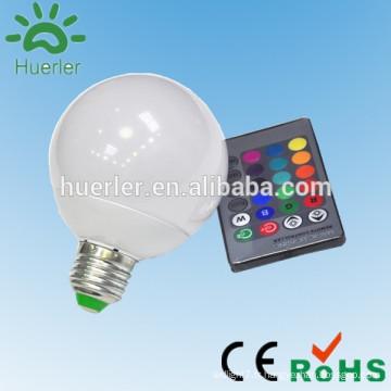 Chine usine aluminium e27 e26 b22 10w led rgb éclairage rgb led ampoule e27 led ampoule cool blanc