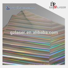 Holographisches Lasergeschnittenes Wärmeübertragungspapier zum Bedrucken