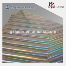 Holographic laser cut heat transfer paper for printing