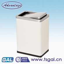 Narrow trash can with lid