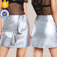 O anel faux saia de couro fabricação atacado moda feminina vestuário (td3096s)