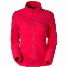 Women's Fleece Jackets, Harmless to Body, Fabric Weighs 200 to 380gsm