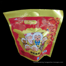 Clear Window Plastic Lollipop Packing Bag with Zip Lock and Tear Notch/Lollipop Bag