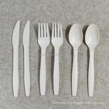Biodegradable Disposable Cornstarch Plastic Cutlery Set