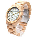 High Quality Handmade Wood Grain Chronograph Unisex Watch Wooden