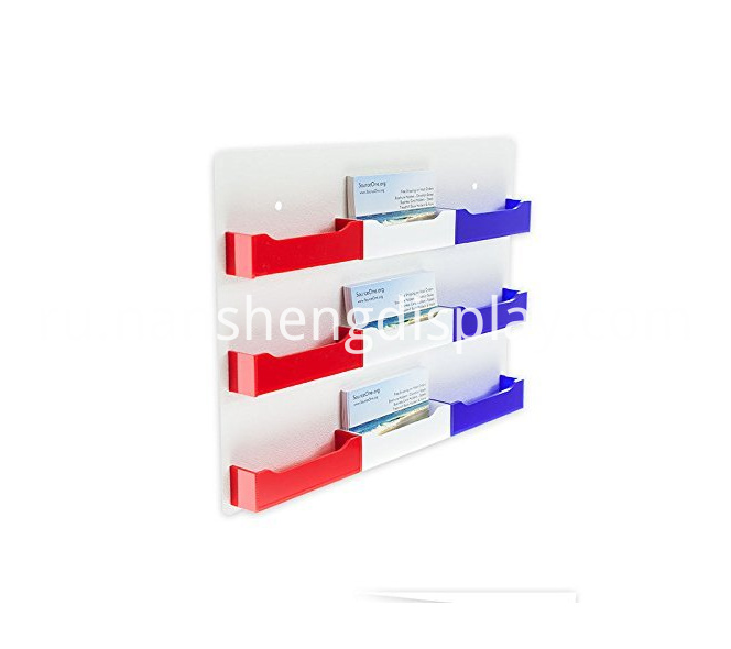 Multi-color Wall Mount Business Card Holder