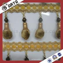 Frange de pommeau de rideau, Garniture d'ameublement Frange utilisée pour les accessoires de rideaux de décoration de maison