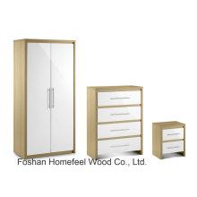High Gloss Wardrobe Dresser Bedroom Furniture Set (BD20)