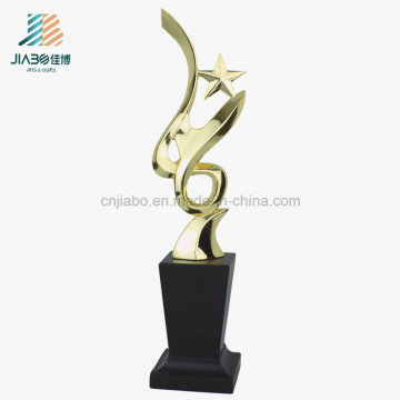 Wholesale Crafts Alloy Custom Souvenir, Star Shape Gold Metal Trophy