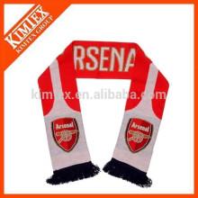 Strickte Acryl Fußball Schal mit Quaste