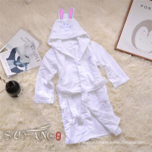 Kids bathrobe / hooded sleep wear pure white bath robe