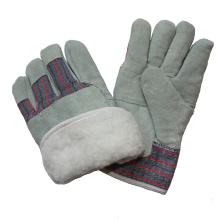 Boa Full Futter Leder Paste Cuff Winter Warm Work Handschuhe für Rigger