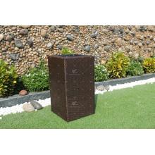Pátio de alta qualidade PE Poly Rattan Plantador com preço barato