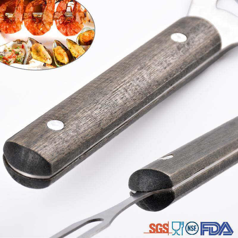 Black handles Bbq Tools