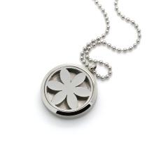 Sliver essential oils diffusing locket necklace