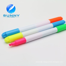 2015 Hot Sale Multi Colored Double Ended Highlighter Marker Pen, Felt Tip Highlighter Marker